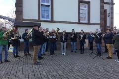 24.12.2018 im Hof des Vereinsheims in Fockenberg-Limbach